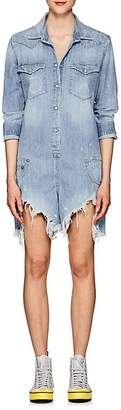 R13 Women's Cowboy Shredded Denim Romper