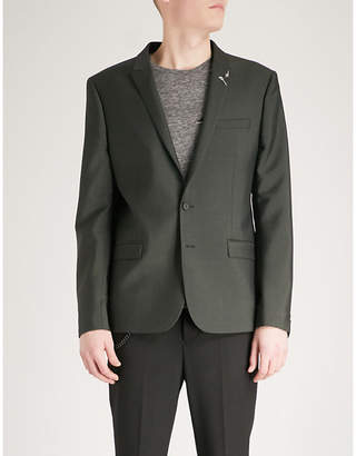 The Kooples Slim-fit wool and mohair-blend jacket