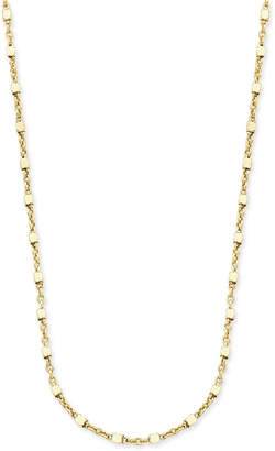 "Giani Bernini 20"" Square Bead Fancy Link Chain Necklace in 18k Gold-Plated Sterling Silver"