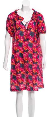 Megan Park Floral Print Knee-Length Dress