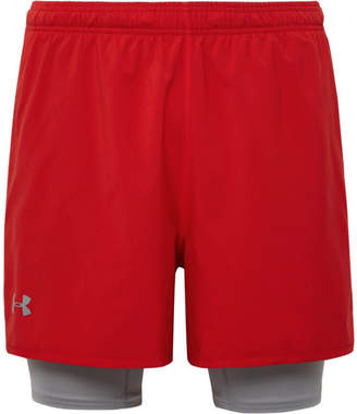 Under Armour Qualifier 2-In-1 Shell And Stretch-Jersey Shorts
