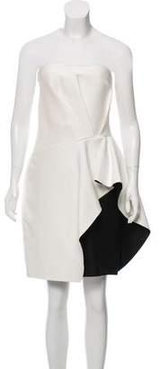 Halston Two-Tone Strapless Dress