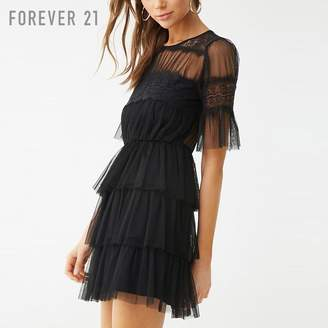 Forever 21 (フォーエバー 21) - Forever 21 ティアードシアーラッフルワンピース