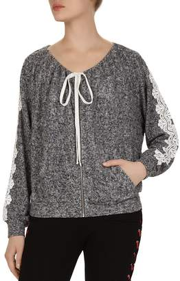 The Kooples Lace-Trim Sweatshirt Top