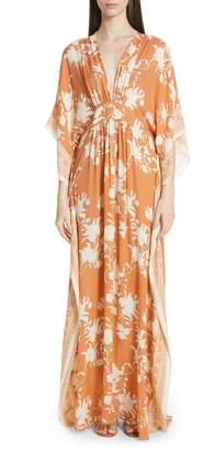 3dae3a70fe5a6 Johanna Ortiz Floral Print Silk Caftan Dress