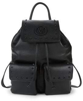 Simeon Leather Drawstring Backpack