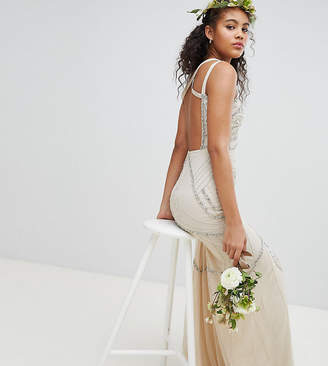 Amelia Rose Tall All Over Embellished Cross Back Maxi Dress