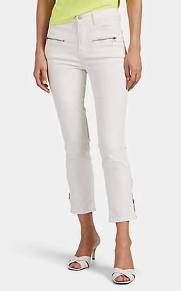 J Brand Women's Ruby Coated Moto Jeans - White