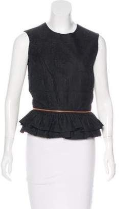 Thomas Wylde Sleeveless Lace-Accented Top