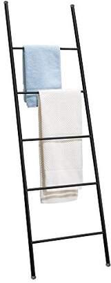 mDesign Free Standing Bath Towel Bar Storage Ladder - 5 Rungs