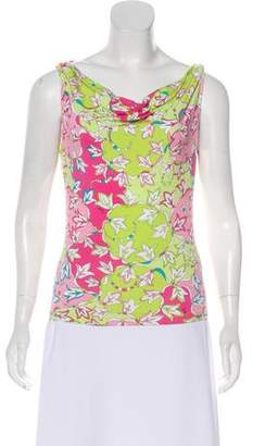 Emilio Pucci Floral Sleeveless Top