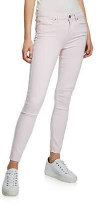 Paige Verdugo Mid-Rise Ankle Skinny Jeans w/ Raw Hem