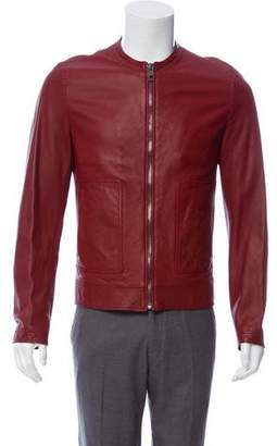 Dolce & Gabbana Perforated Leather Jacket w/ Tags