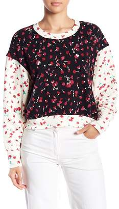 Joie Caleigh Floral Print Drop Shoulder Sweater
