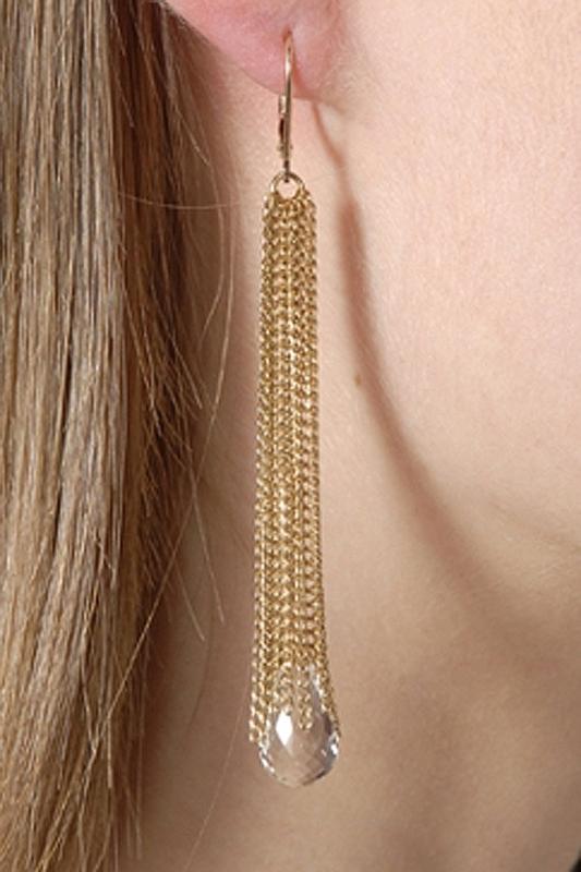 Jennifer Tuton Gem Tassel Quartz Earrings