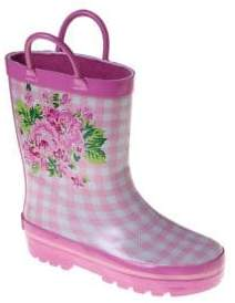 Girl's Rain Boots With Designs