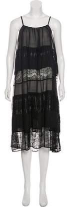 Alice + Olivia Semi-Sheer Midi Dress