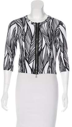 Tracy Reese Patterned Zip-Up Cardigan