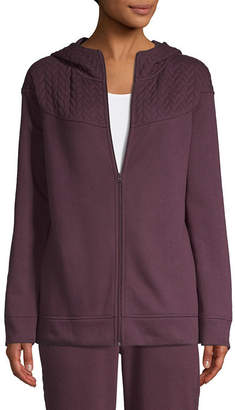 ST. JOHN'S BAY SJB ACTIVE Active Quilted Texture Mix Jacket - Tall