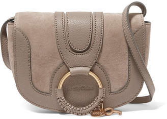 See by Chloé - Hana Small Textured-leather And Suede Shoulder Bag - Light gray $295 thestylecure.com