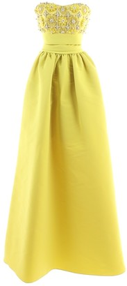 Marchesa Yellow Polyester Dresses