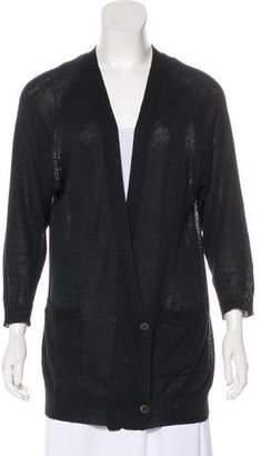 Dries Van Noten Semi-Sheer Button-Up Cardigan