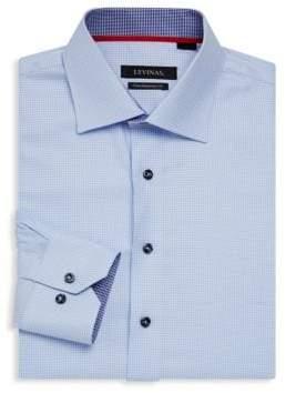 Contemporary-Fit Houndstooth Dress Shirt