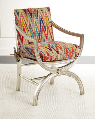 John-Richard Collection Dawn Mirrored-Back Accent Chair