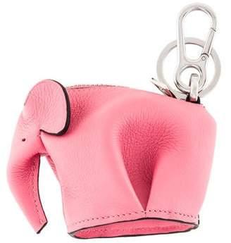 Loewe Leather Elephant Keychain