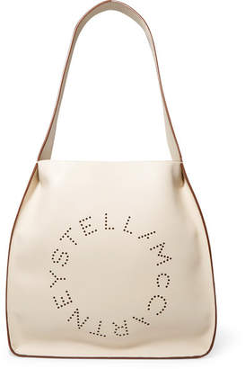 Stella McCartney Perforated Faux Leather Tote - Beige