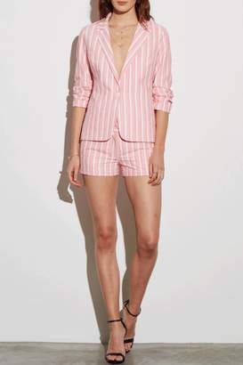 Amanda Uprichard Pink Striped Blazer