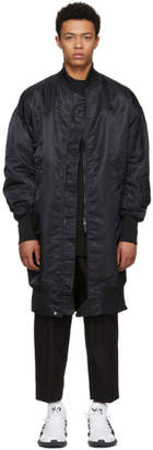 Y-3 Black Long Bomber Jacket