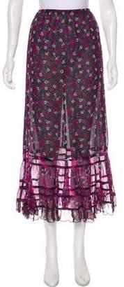 Anna Sui Floral Midi Skirt w/ Tags