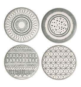 Royal Doulton Ed Grey Accents 21Cm Plate Set Of 4