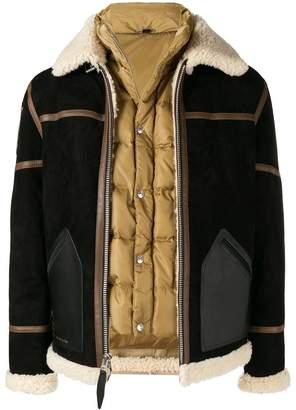 Schott padded shearling jacket