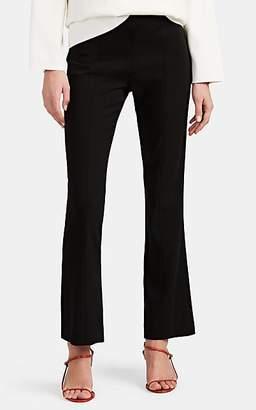 The Row Women's Beca Wool-Blend Crepe Flared Pants - Black