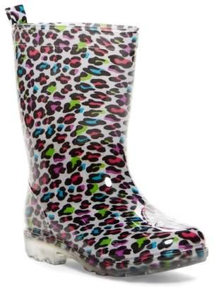 Capelli of New York Shiny Multi Pop Leopard Rainboot (Little Kids & Big Kids)