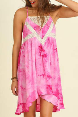 Umgee USA Sleeveless Tie-Dye Dress