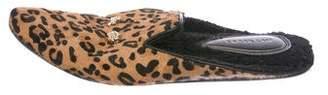 Derek Lam Ponyhair Embellished Mules