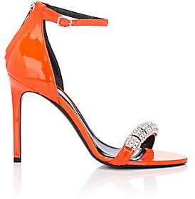 Calvin Klein Women's Camelle Patent Leather Sandals - Orange