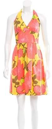 Trina Turk Floral Print Halter Dress