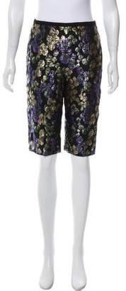 Marc Jacobs Brocade Knee-Length Shorts