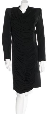 Balenciaga Balenciaga Draped Knee-Length Coat