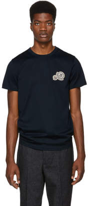 Moncler Navy Embroidered Logo T-Shirt