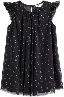 H&M Glittery Tulle Dress - Black