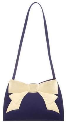 Nina Ricci Satin Accented Shoulder Bag