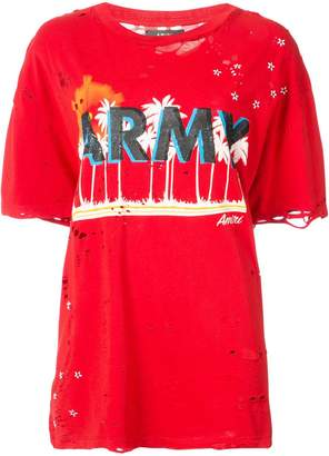 Amiri oversized army T-shirt