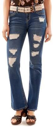 Juniors' Wallflower Legendary Ripped Bootcut Jeans