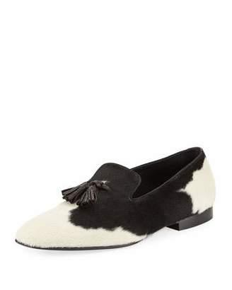 Tom Ford Calf Hair Tassel-Front Loafer