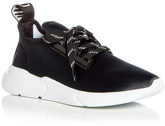 Moschino Women's Neoprene Lace Up Sneakers